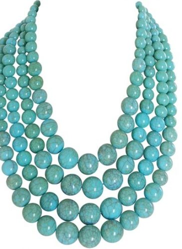 Big Bold Chunky Turquoise Statement Necklace Iris Apfel WOW FACTOR Heavy Gypsy Necklace Couture Red Carpet2