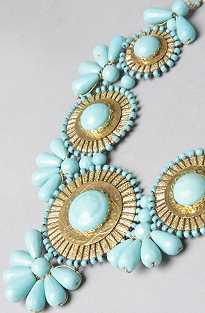 Big Bold Chunky Turquoise Statement Necklace Iris Apfel WOW FACTOR Heavy Gypsy Necklace Couture Red Carpet25