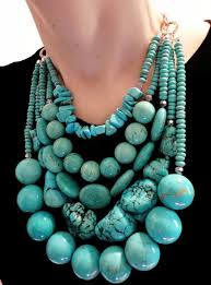 Big Bold Chunky Turquoise Statement Necklace Iris Apfel WOW FACTOR Heavy Gypsy Necklace Couture Red Carpet3